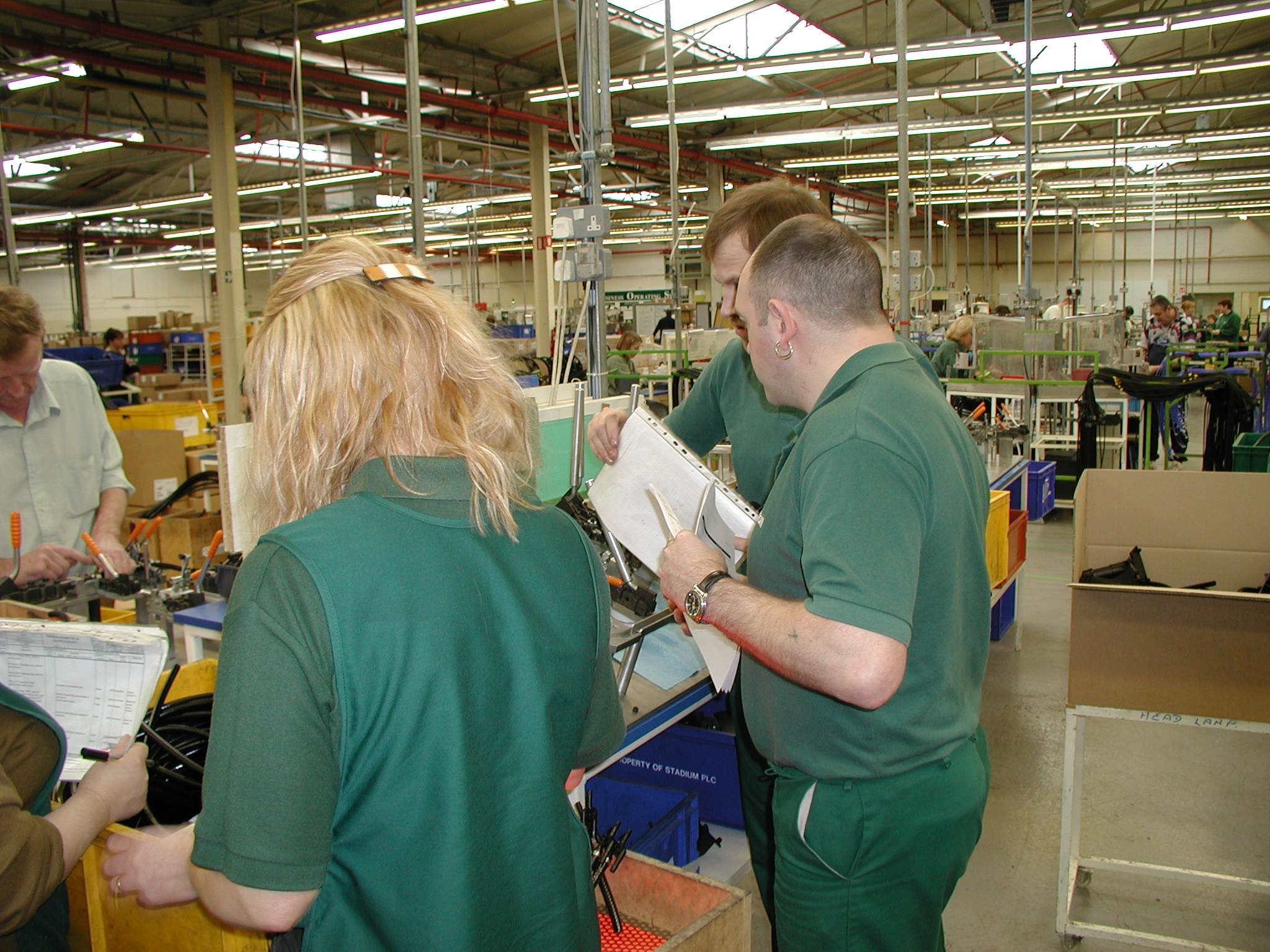 Using GEMBA to view and analyse an operation process
